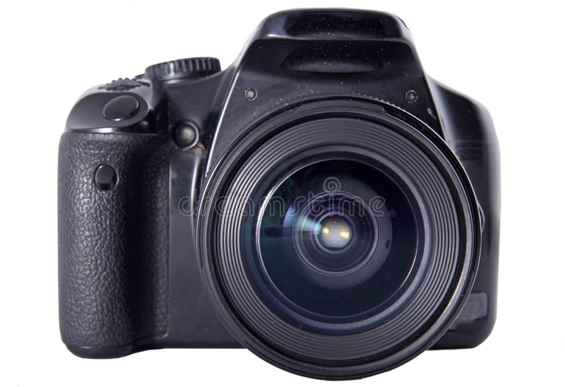 Digital photo camera. Isolated on the white background stock images