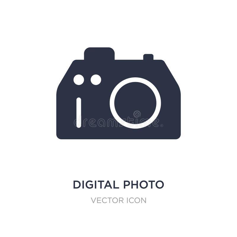 Digital photo camera icon on white background. Simple element illustration from Technology concept. Digital photo camera sign icon symbol design vector illustration