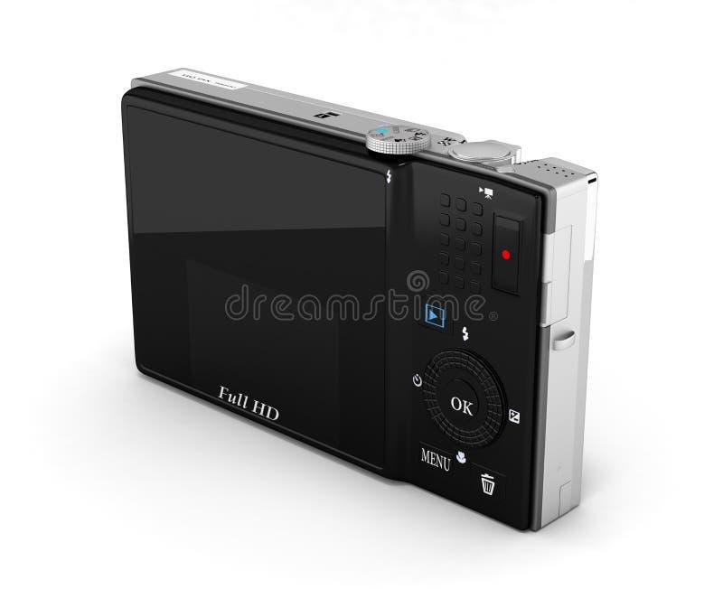 Digital photo camera isolated on white background 3d render. Digital photo camera isolated on white background 3d stock illustration