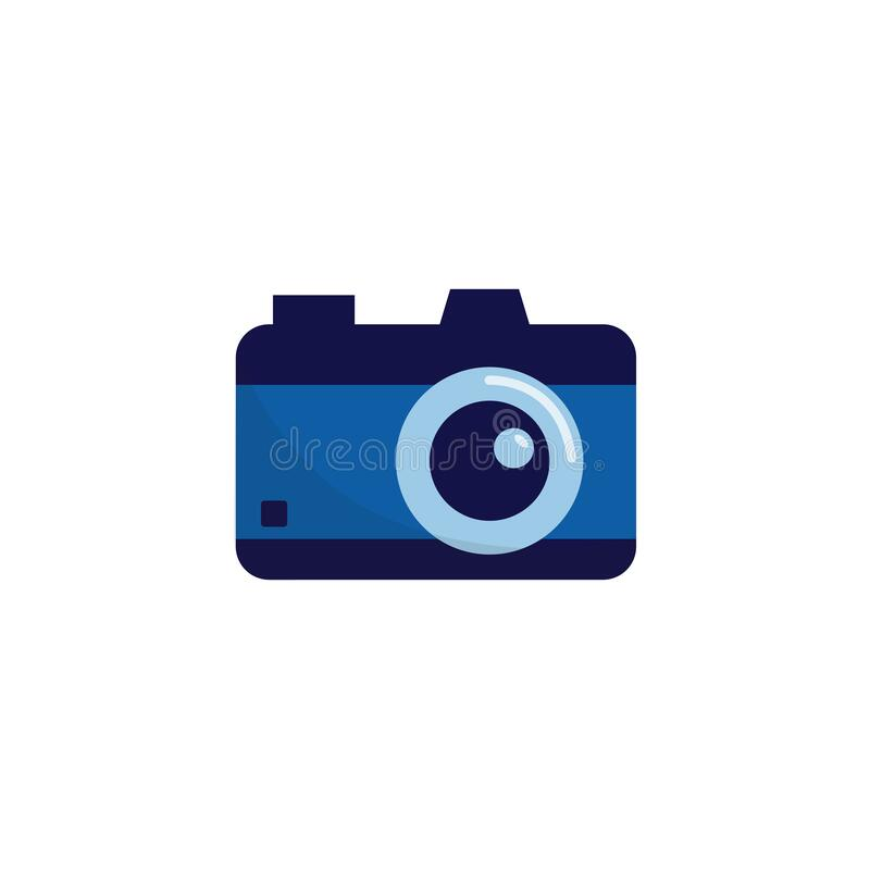 Digital photo camera symbol or icon flat vector illustration isolated on white. vector illustration