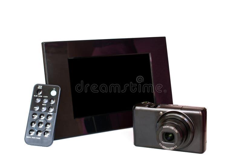Digital photo frame royalty free stock photos