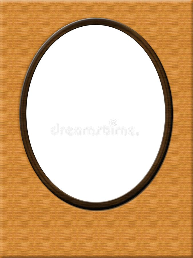 Digital photo frame, one Ovals for photos stock photography