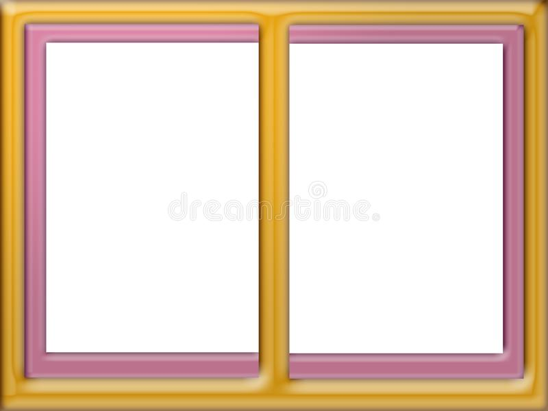 Digital photo frame, 2 rectangles for photos stock photos