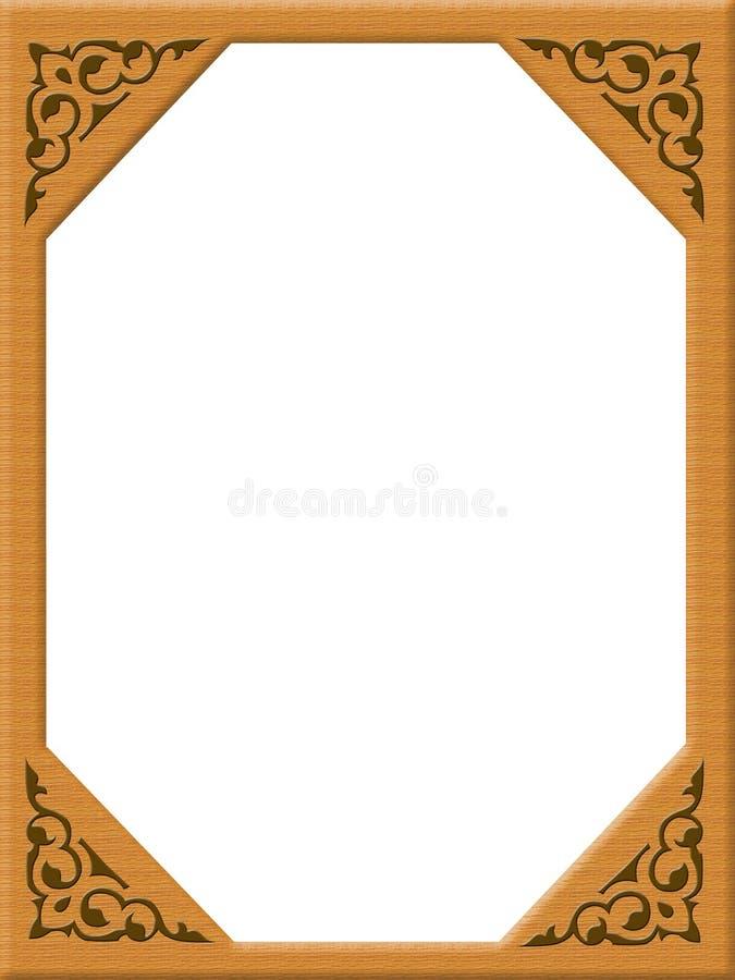 Digital photo frame, texture wood royalty free stock image