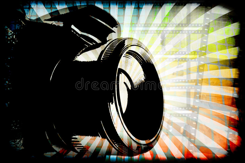 Digital Photography. Generic digital camera photography graphic with copy space royalty free illustration