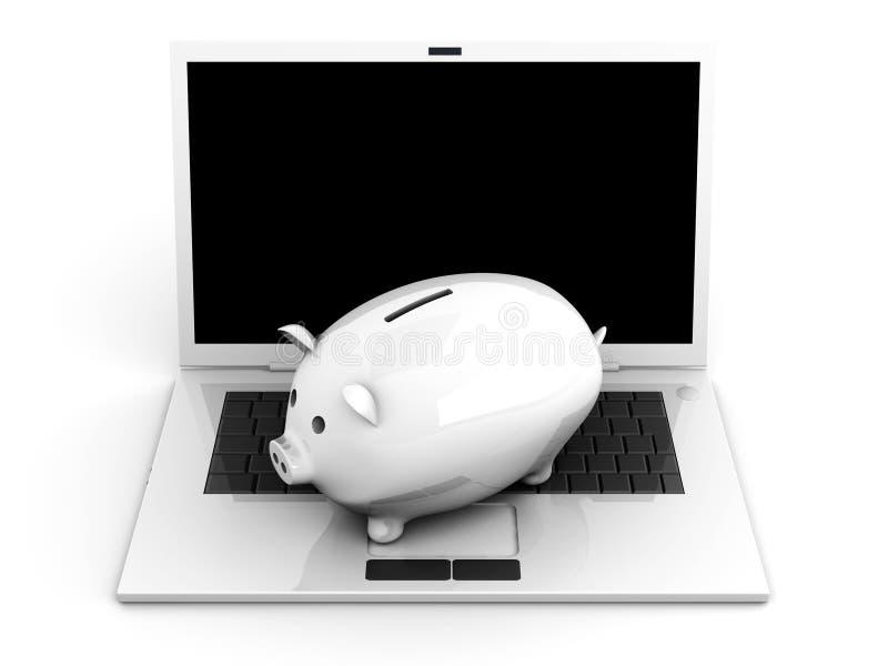 Digital piggy bank stock illustration