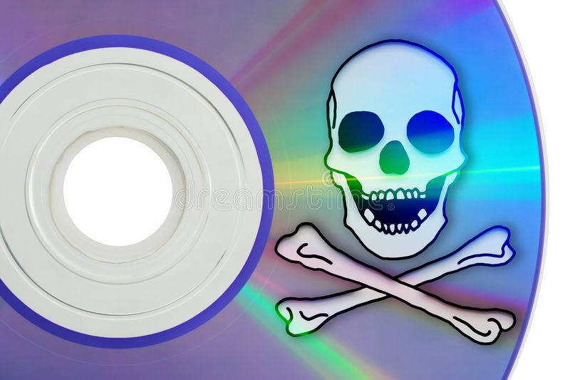 digital piratkopiering arkivbild