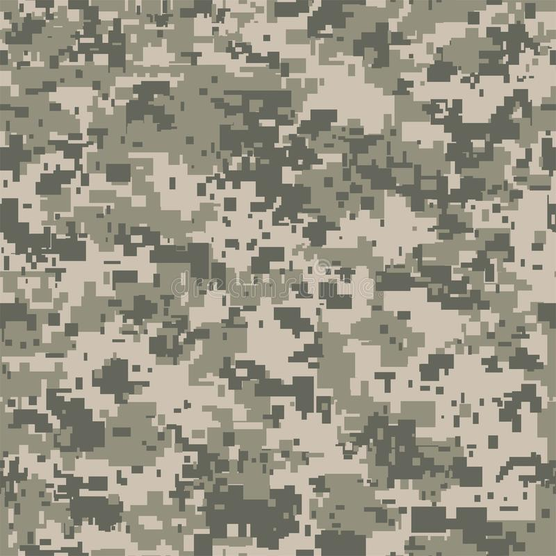 Digital pixel camouflage seamless pattern for your design. Vector Texture stock illustration