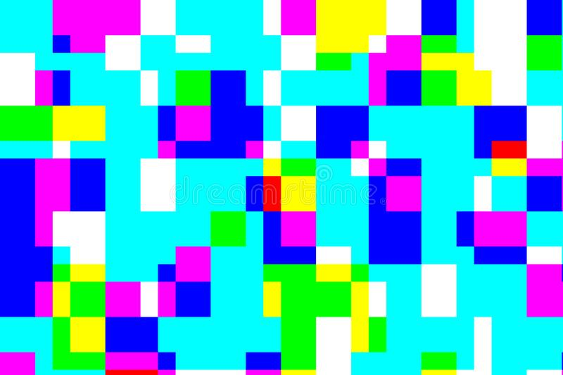 Digital pixel fill color error pattern processing fail. Abstract for background stock illustration