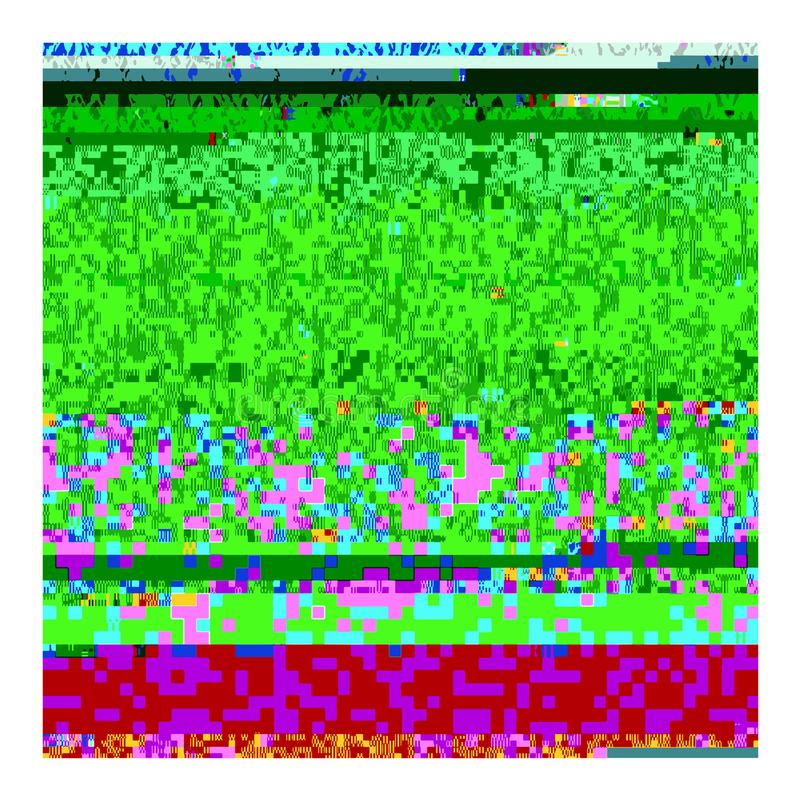 Old Broken Television. Glitch On Retro TV Screen Stock