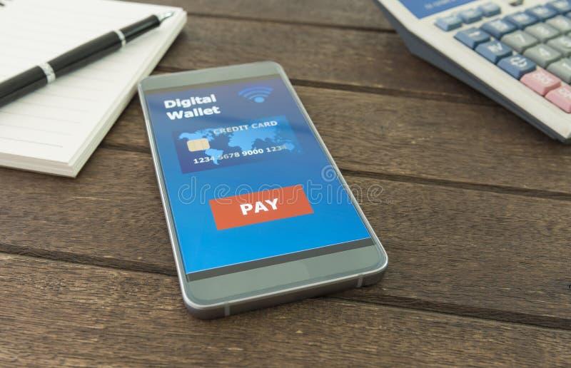 Digital plånbok royaltyfria bilder