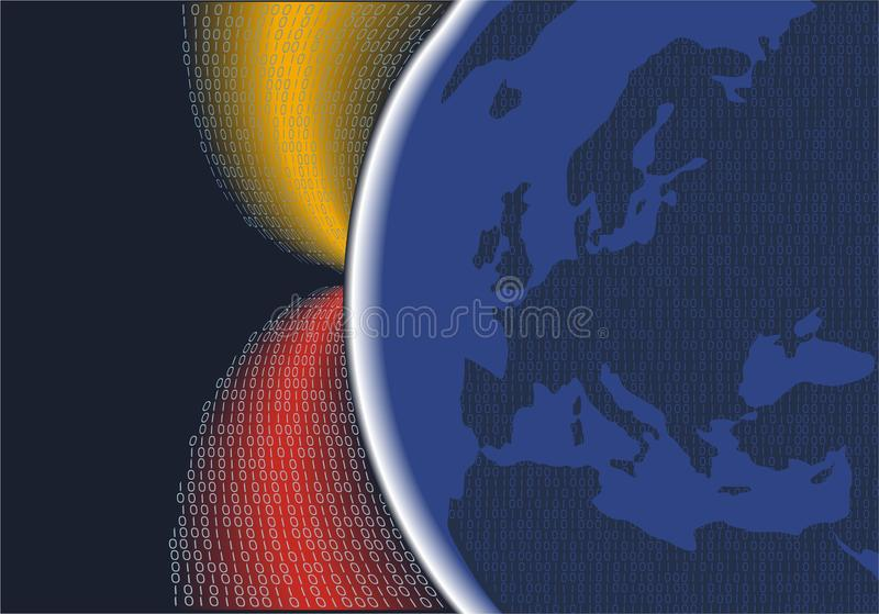 Digital planet europe stock illustration