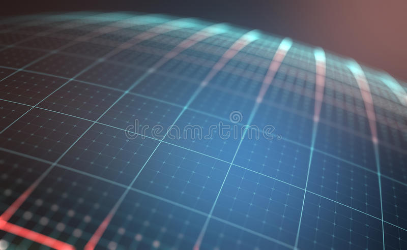 Digital Planet. With lines and dots coordinates of a globalized world royalty free stock photo