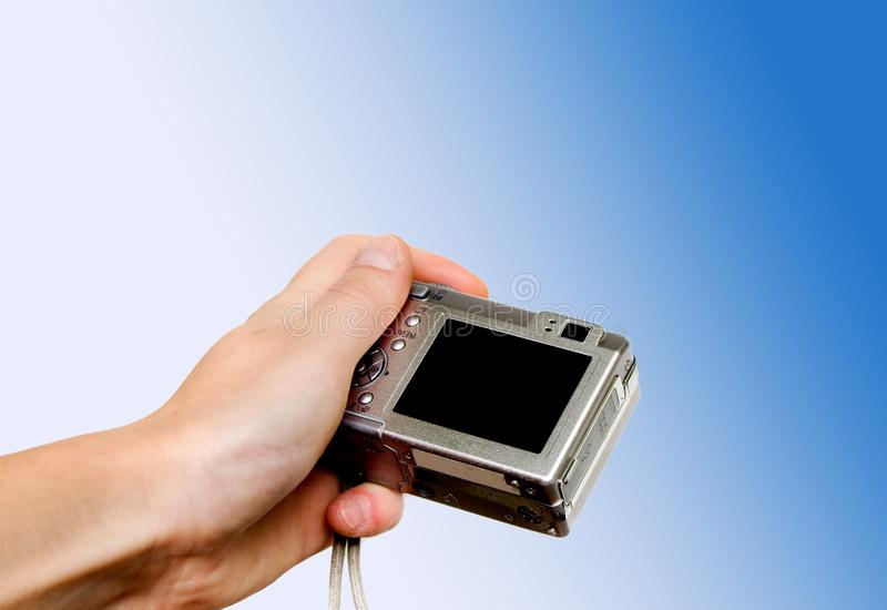 Digital point and shoot camera stock image