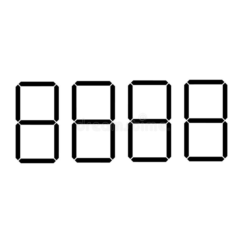 Digital-Preisstellen oder -zahlen vector Schablone für Shop oder Supermarkt vektor abbildung
