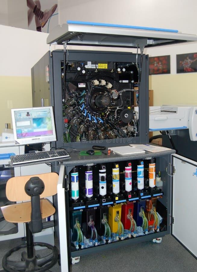 Digital press printing stock photos