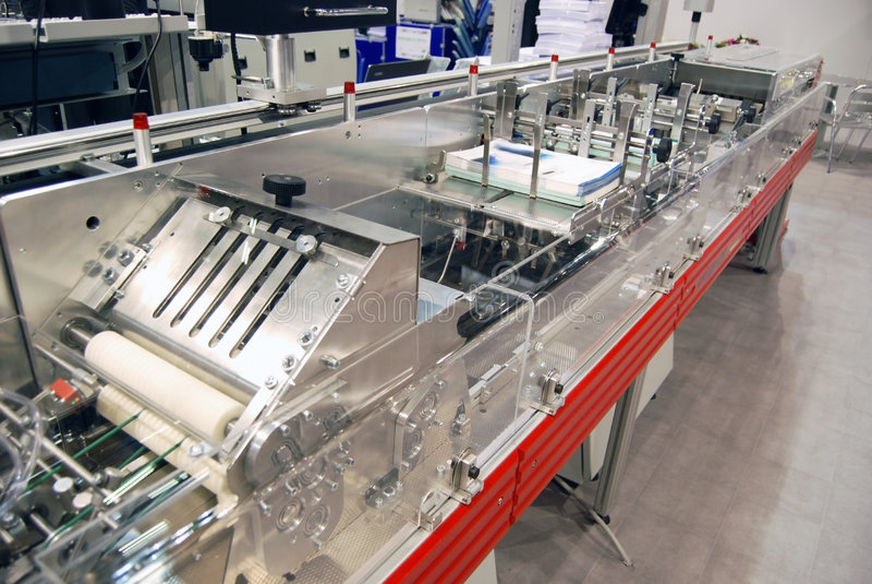Digital press printing stock image