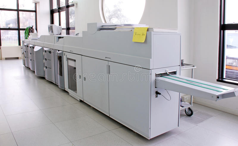 Digital press printing stock photo