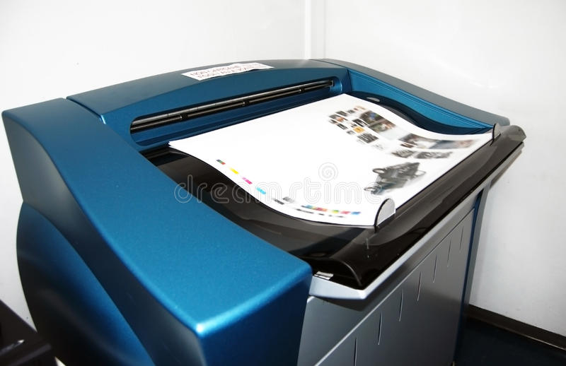 Digital press printing - proofs royalty free stock photography