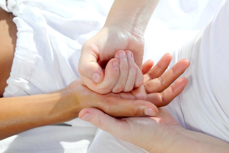 Digital Pressure Hands Reflexology Massage Therapy Royalty Free Stock Photos