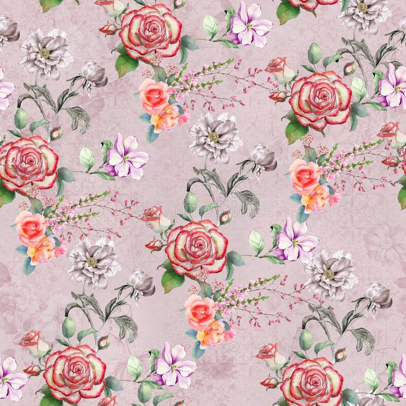 Digital print flower pattern design royalty free stock photography
