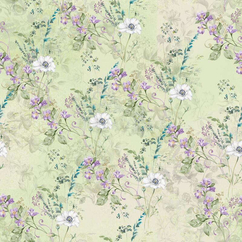Digital print flower pattern design royalty free stock image