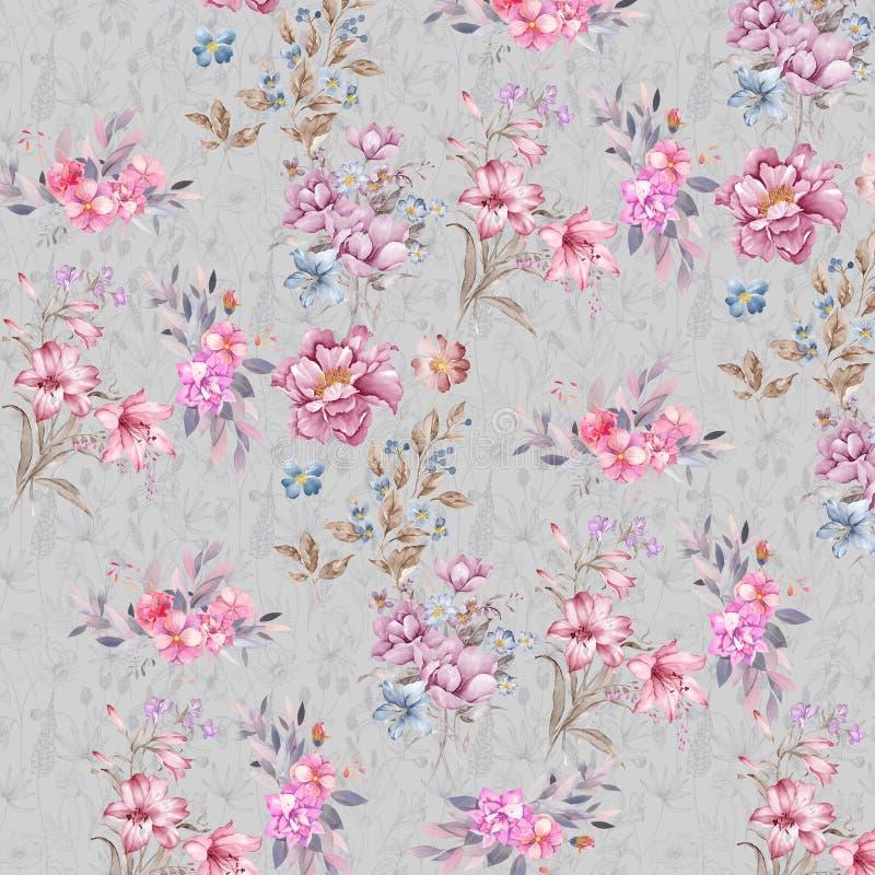 Digital print flower pattern design royalty free stock photography