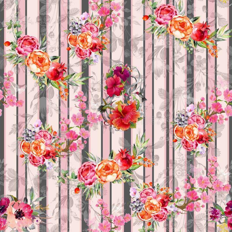 Digital print flower pattern design stock photos