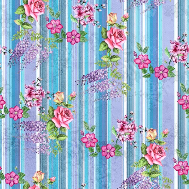Digital print flower pattern design stock photo