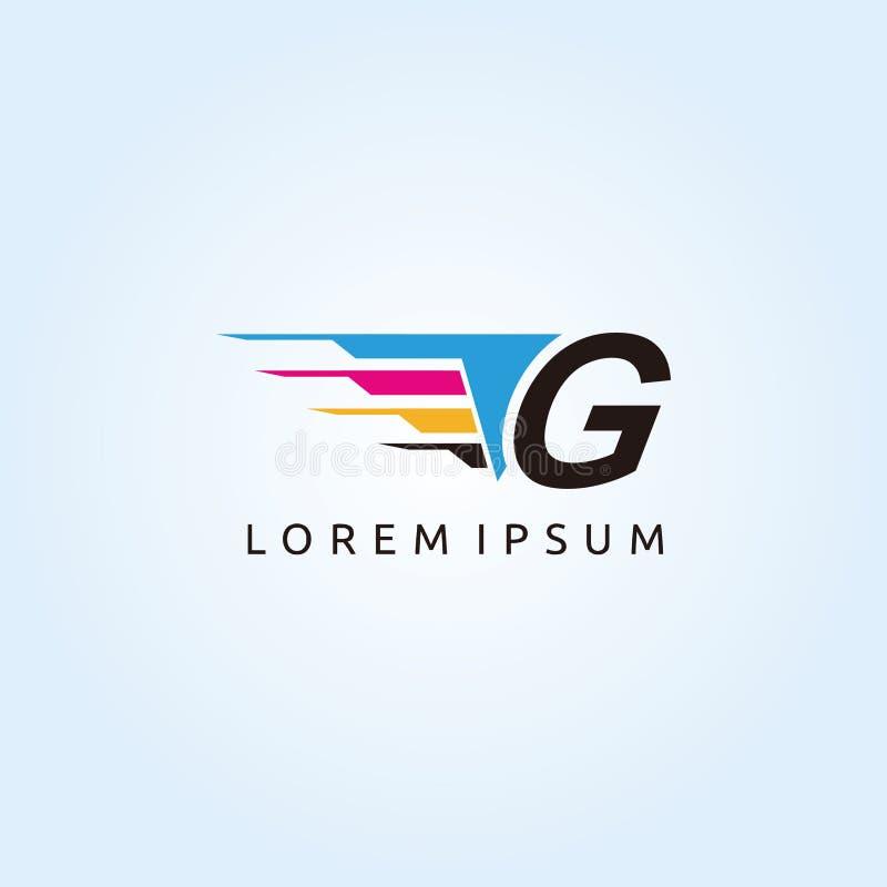 Digital Print Technology G CMYK Letter Logo. Modern Media design logo with Letter inside vector illustration