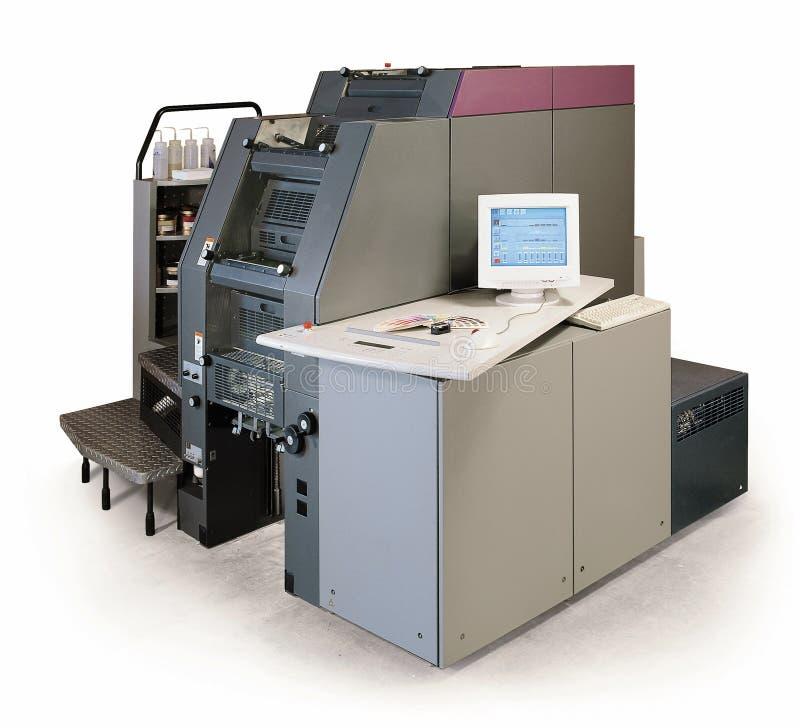 Digital printing press stock photography