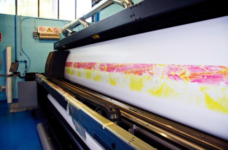 Digital printing - wide format press stock photos