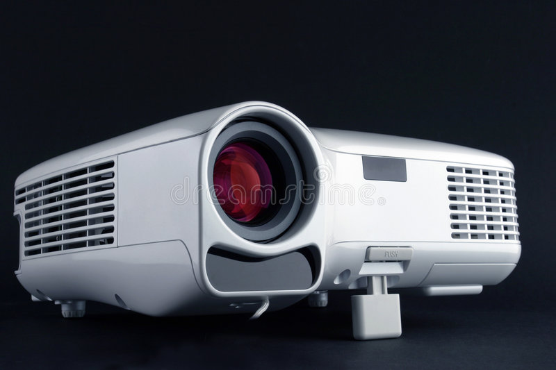 Digital Projector. Isolated on black royalty free stock photography