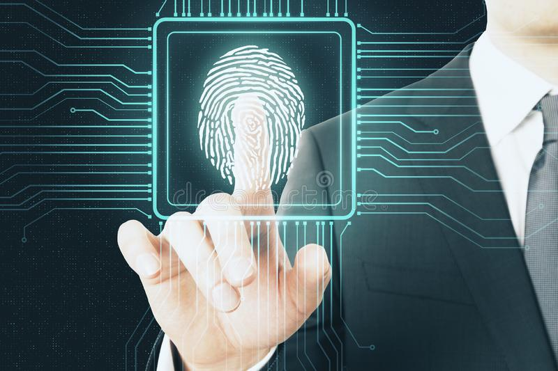 Digital protection concept stock image