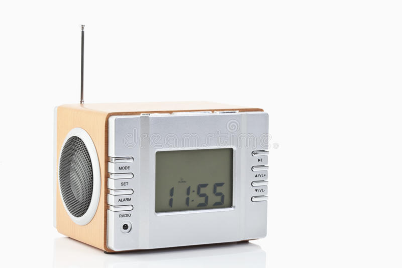 digital radio alarm clock stock photos