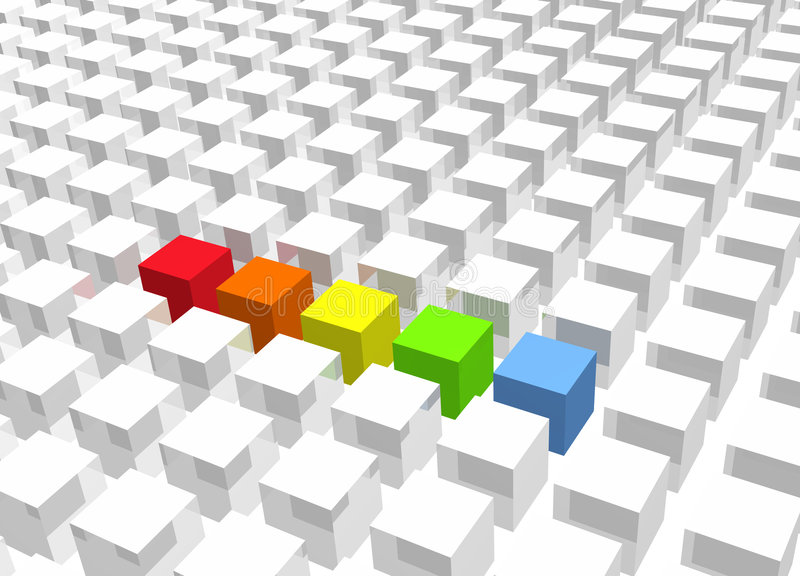 Download Digital Rainbow stock illustration. Image of green, interesting - 5448186
