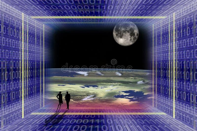 Digital-Raumfahrt stockfoto
