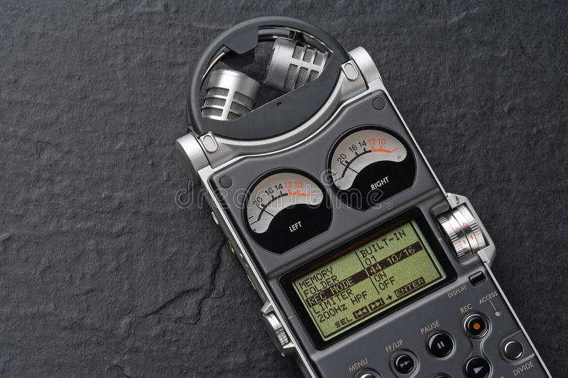 Digital recorder royalty free stock images