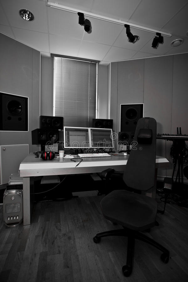 Digital recording studio stock photography