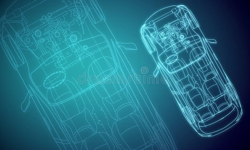 Digital red car design texture vector illustration