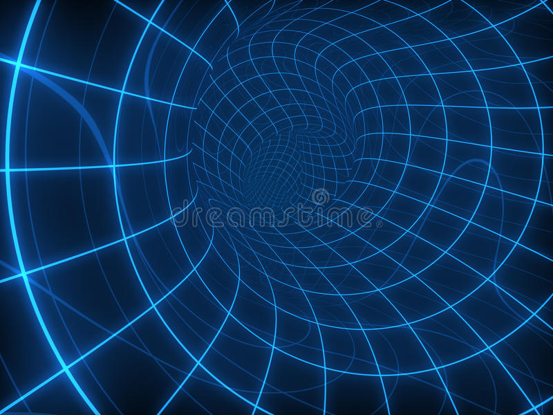 Digital round tunnel stock photography
