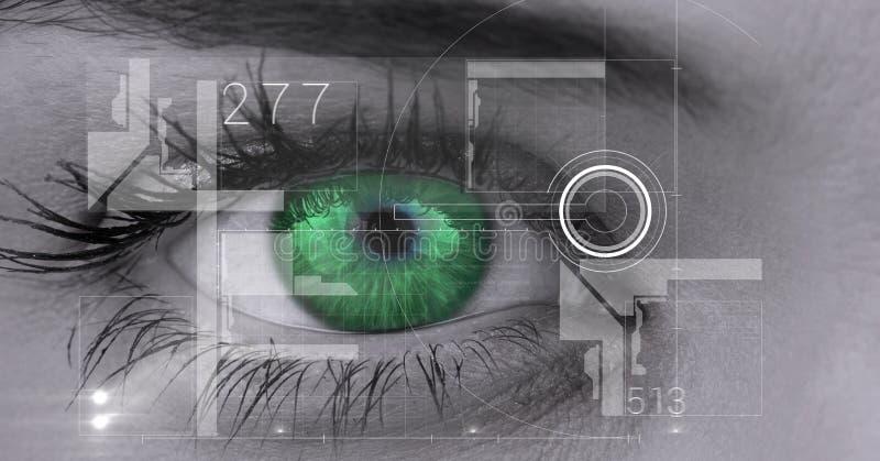 Digital sammansatt bild av ögonmanöverenheten vektor illustrationer