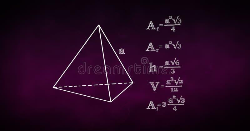 Digital sammansatt bild av diagram- och matematikformler royaltyfri fotografi