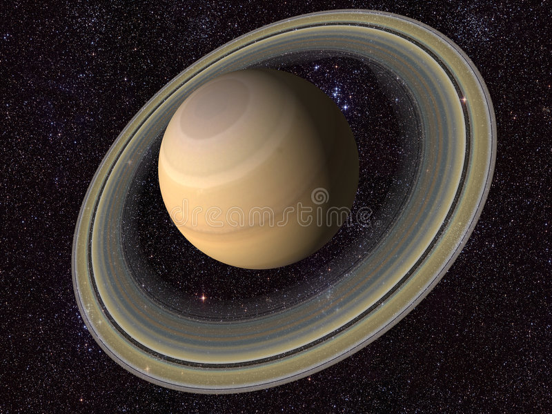 Digital Saturn. Created a digital Saturn in 3d royalty free illustration