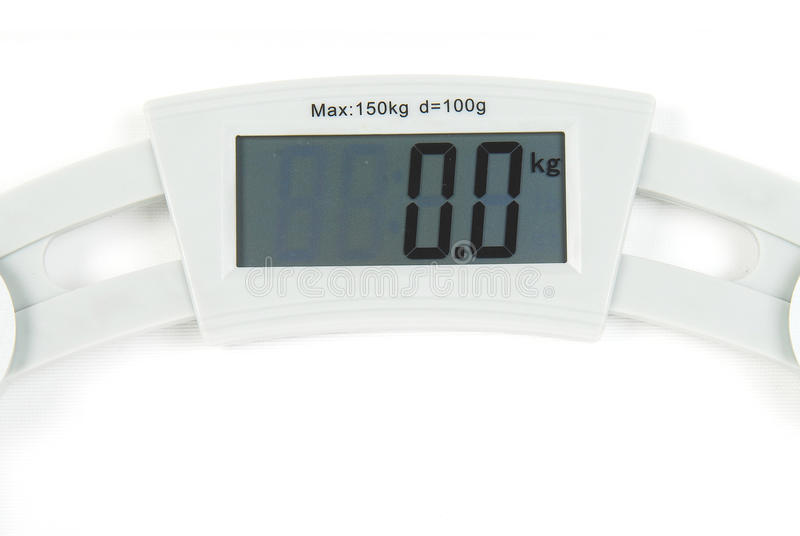 Digital scale royalty free stock image