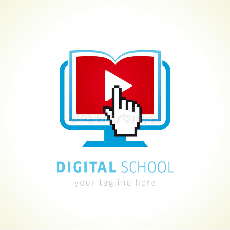 digital school online logo stock vector illustration of ebook rh dreamstime com Logos Academy Online School logos classical school online