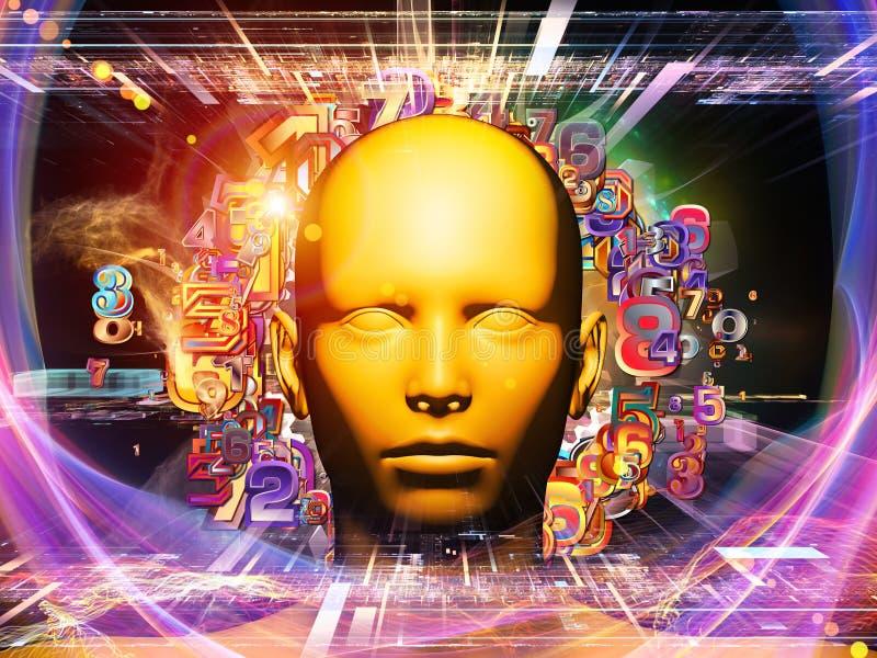 Digital Science Background royalty free illustration