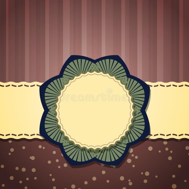 Digital scrap-booking card vector illustration