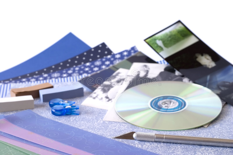 Digital Scrapbooking lizenzfreie stockfotografie