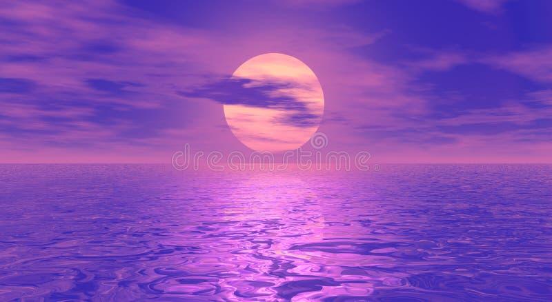 Download Digital seascape stock illustration. Illustration of light - 7113596